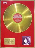 T.REX (Mark Bolan) -  LP  24 Carat Gold Disc - A BEARD OF STARS